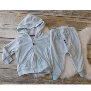 Carter's Terry Cloth Baby bear hoodie and pants